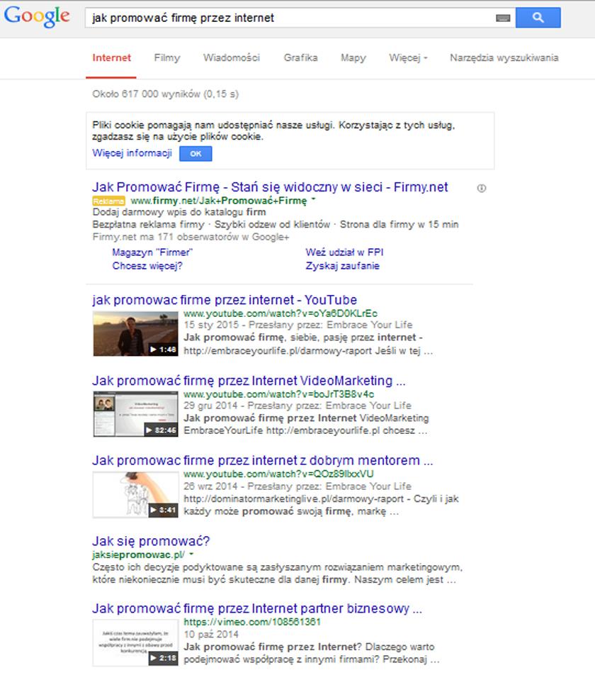 jak promować firmę przez internet pozycjonowanie google