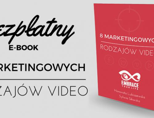 """Pobierz bezpłatny e-book """"8 Marketingowych Rodzajów Video"""""""