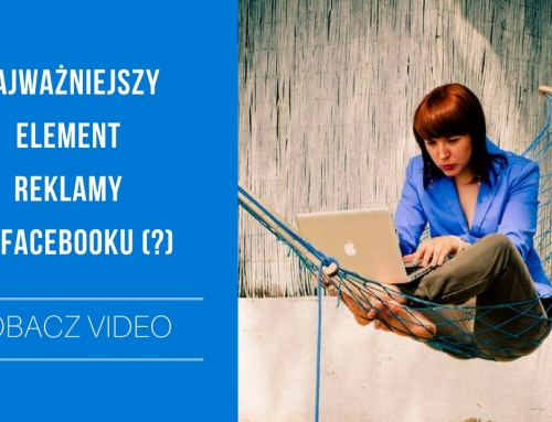 TV: Najważniejszy element REKLAMY na Facebooku + BONUS